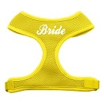 Bride Screen Print Soft Mesh Harness Yellow Small