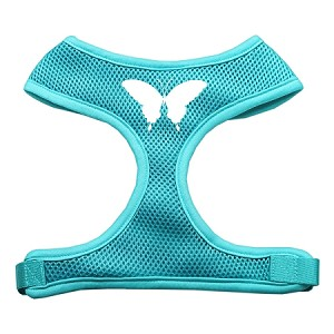 Butterfly Design Soft Mesh Harnesses Aqua Extra Large