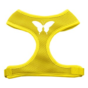 Butterfly Design Soft Mesh Harnesses Yellow Extra Large