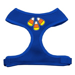 Candy Corn Design Soft Mesh Harnesses Blue Small