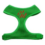 Christmas Paw Screen Print Soft Mesh Harness Emerald Green Extra Large