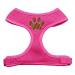Christmas Paw Screen Print Soft Mesh Harness Pink Extra Large