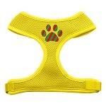 Christmas Paw Screen Print Soft Mesh Harness Yellow Extra Large