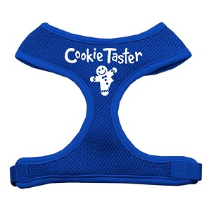 Cookie Taster Screen Print Soft Mesh Harness Blue Extra Large