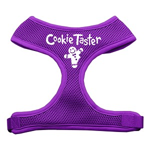 Cookie Taster Screen Print Soft Mesh Harness Purple Small