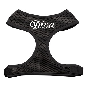 Diva Design Soft Mesh Harnesses Black Large