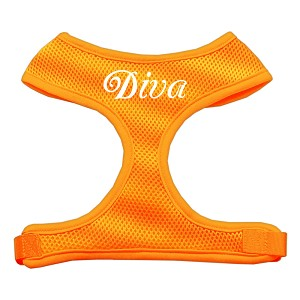 Diva Design Soft Mesh Harnesses Orange Extra Large