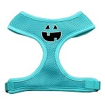 Pumpkin Face Design Soft Mesh Harnesses Aqua Small