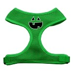 Pumpkin Face Design Soft Mesh Harnesses Emerald Green Small