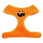 Pumpkin Face Design Soft Mesh Harnesses Orange Small