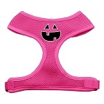 Pumpkin Face Design Soft Mesh Harnesses Pink Small