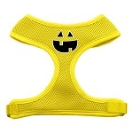 Pumpkin Face Design Soft Mesh Harnesses Yellow Small