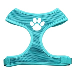 Paw Design Soft Mesh Harnesses Aqua Medium