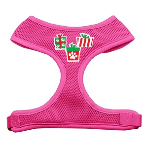 Presents Screen Print Soft Mesh Harness Pink Large