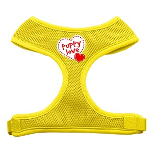 Puppy Love Soft Mesh Harnesses Yellow Extra Large
