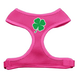 Shamrock Screen Print Soft Mesh Harness Pink Medium