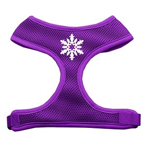 Snowflake Design Soft Mesh Harnesses Purple Extra Large