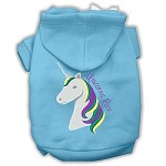 Unicorns Rock Embroidered Dog Hoodie Baby Blue XXL (18)