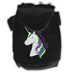 Unicorns Rock Embroidered Dog Hoodie Black XXXL(20)