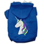 Unicorns Rock Embroidered Dog Hoodie Blue XXXL(20)