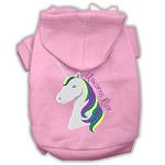 Unicorns Rock Embroidered Dog Hoodie Light Pink XS (8)