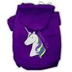 Unicorns Rock Embroidered Dog Hoodie Purple XS (8)