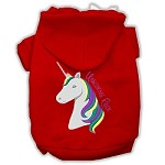 Unicorns Rock Embroidered Dog Hoodie Red XL (16)