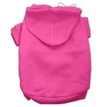 Blank Hoodies Bright Pink Size XS