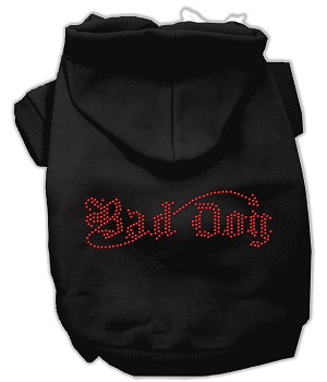 Bad Dog Rhinestone Hoodies Black XXL