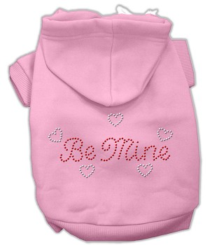 Be Mine Rhinestone Hoodie Light Pink XL (16)