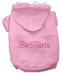 Be Mine Rhinestone Hoodie Light Pink XS (8)