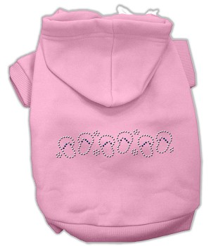 Beach Sandals Rhinestone Hoodies Light Pink XXXL