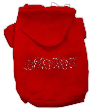Beach Sandals Rhinestone Hoodies Red M
