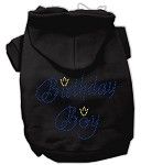 Birthday Boy Rhinestone Hoodie Black XL
