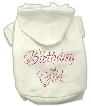 Birthday Girl Rhinestone Hoodie Cream XXL (18)