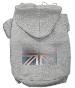 British Flag Rhinestone Hoodie Grey XL (16)