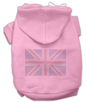British Flag Rhinestone Hoodie Light Pink L (14)