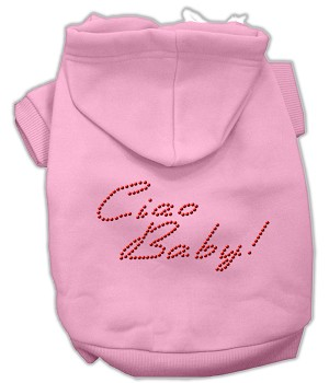 Ciao Baby Rhinestone Hoodie Pink L (14)