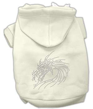 Studded Dragon Hoodies Cream S (10)