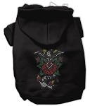 Eagle Rose Nailhead Hoodies Black XS