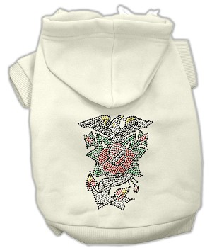 Eagle Rose Nailhead Hoodies Cream L