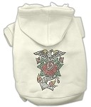 Eagle Rose Nailhead Hoodies Cream XS