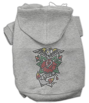 Eagle Rose Nailhead Hoodies Grey XS