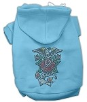 Eagle Rose Nailhead Hoodies Baby Blue XS