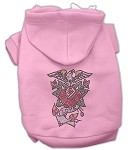 Eagle Rose Nailhead Hoodies Light Pink XS