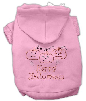 Happy Halloween Rhinestone Hoodies Light Pink L (14)