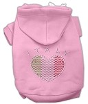 Italian Rhinestone Hoodies Light Pink XS