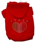 Italian Rhinestone Hoodies Red XS