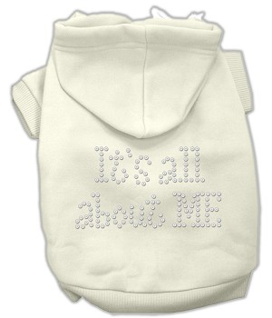 It's All About Me Rhinestone Hoodies Cream S
