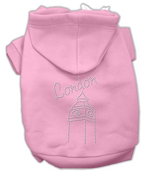 London Rhinestone Hoodies Light Pink S (10)